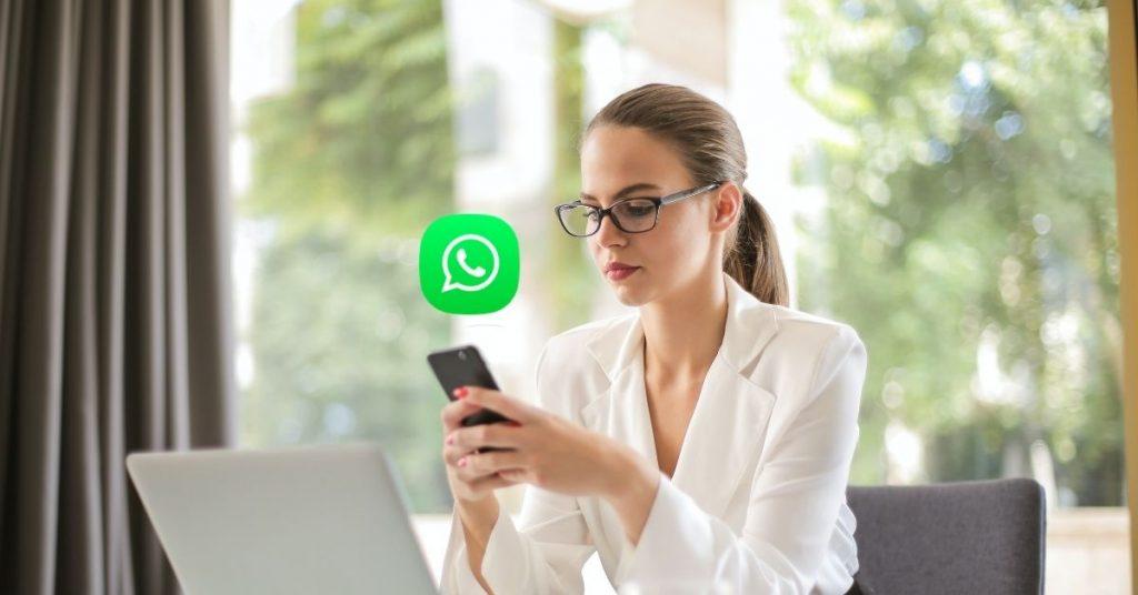 woman using whatsapp business